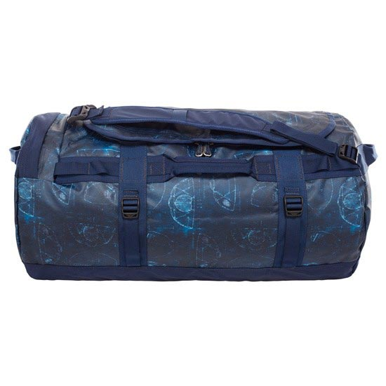 The North Face Base Camp Duffel M - Cosmic Blue Blueprint Print