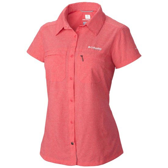 Columbia Irico Short Sleeve Shirt W - Bright Geranium Heather