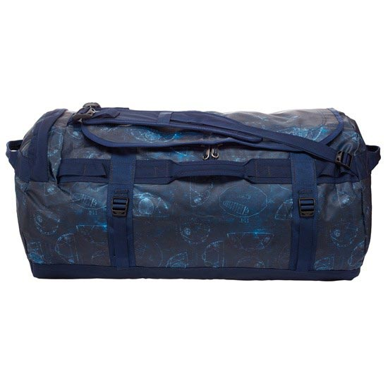 The North Face Base Camp Duffel L - Cosmic Blue Blueprint Print