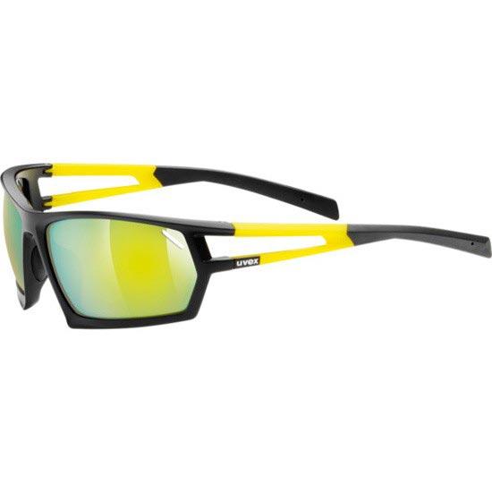 Uvex Sportstyle 704 - Black Mat/Yellow