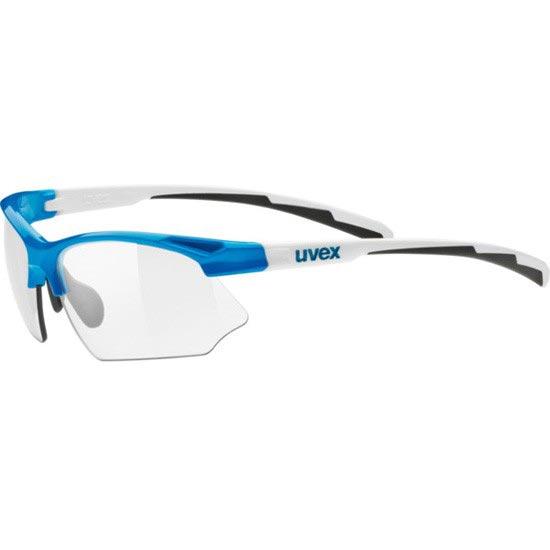 Uvex Sportstyle 802 Vario - Blue White/Smoke