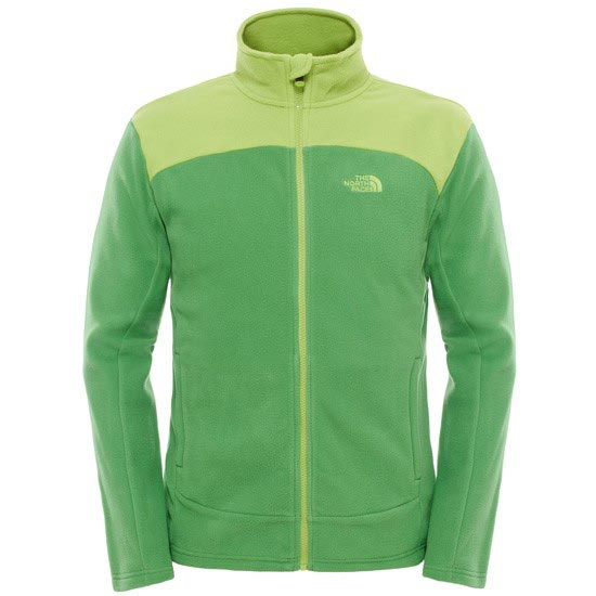 The North Face 100 Glacier Full Zip - Flashlight Green/Macaw Green