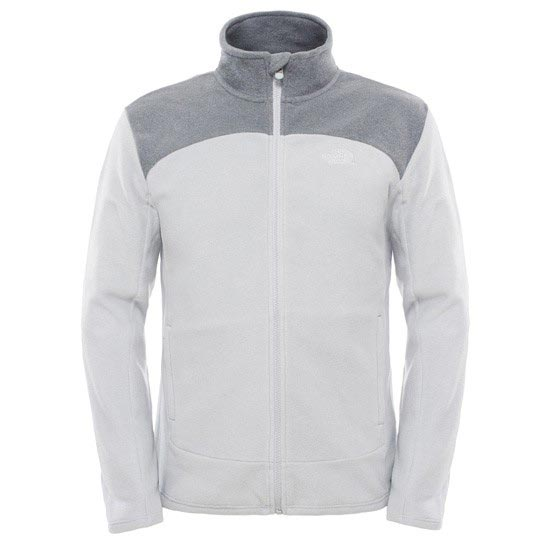 The North Face 100 Glacier Full Zip - TNF Light Grey Heather/TNF Medium Grey Heather
