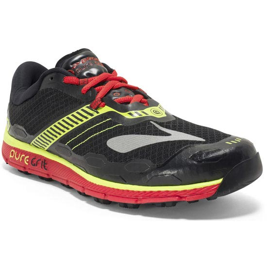 Brooks Puregrit 5 - Black/High Risk Red/Nightlife
