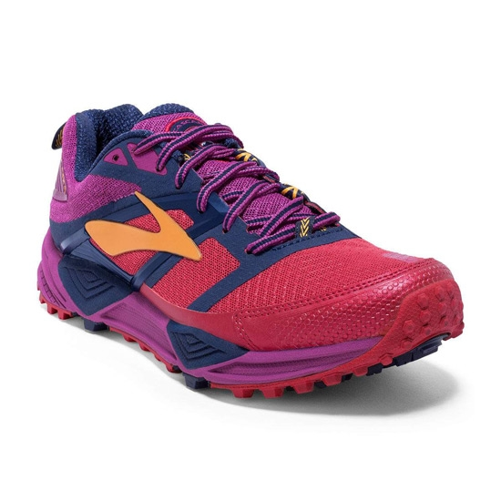 Brooks Cascadia 12 W - Poppy Red/Peacoat/Baton