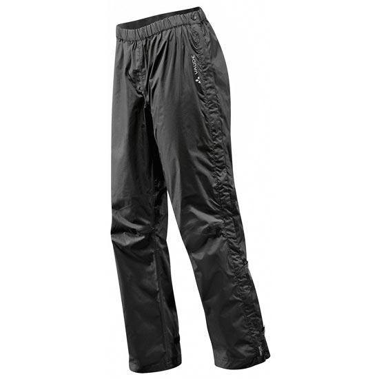 Vaude Fluid Full-Zip Pants II S/S - Black