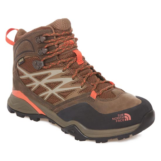The North Face Hedgehog Hike Mid GTX W - Morel Brown/Radiant Orange