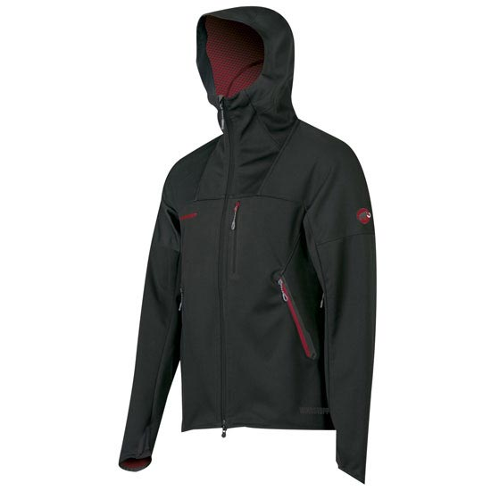 Mammut Ultimate Hooded Jacket - Black/Dark Infierno
