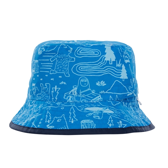 The North Face Sun Stash Hat - Clear Lake Blue Critter Hike Print