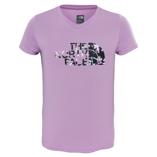The North Face S/S Reaxion Tee Girl - Violet Tulle Heather