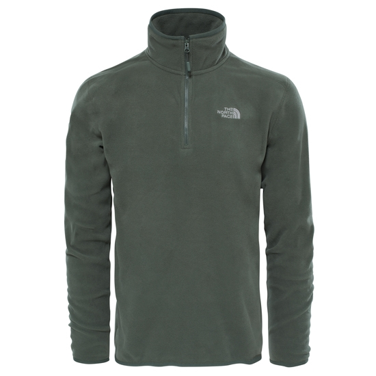 The North Face M 100 Glacier 1/4 Zip - Thyme