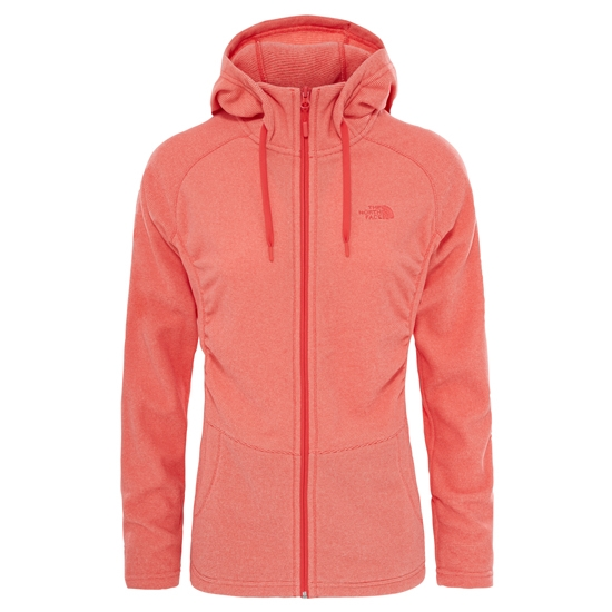 The North Face Mezzaluna Full Zip Hoodie W - Cayenne Red Stripe