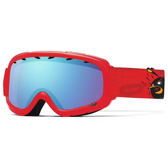 Smith Gambler Air Jr - Red Angri Birds/ Blue Sensor Mirror