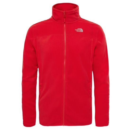 The North Face 100 Glacier Full Zip - High Risk Red