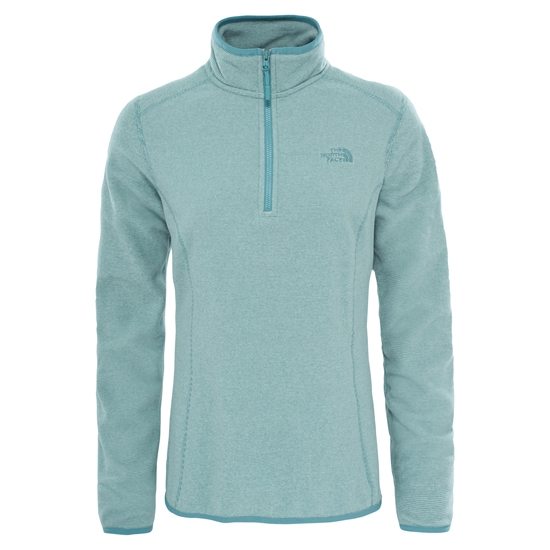 The North Face 100 Glacier 1/4 Zip W - Trelis Green Stripe