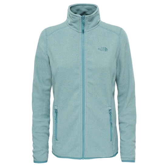 The North Face 100 Glacier Full Zip W - Trelis Green Stripe