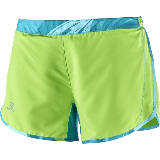Salomon Agile Short W - Green Flash/Blue