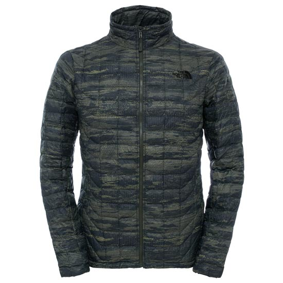 The North Face Thermoball Full Zip Jacket - Rosin Green Glamo Print