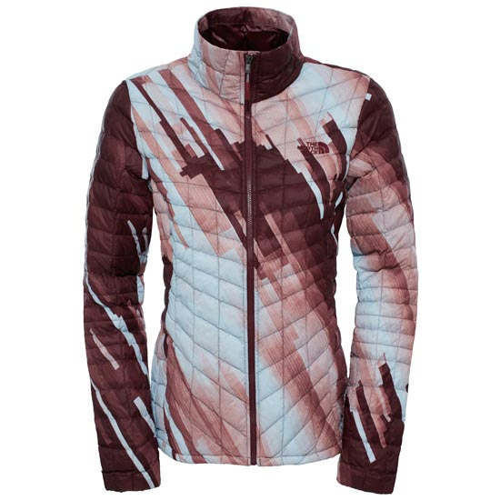 The North Face Thermoball Jacket W - Deep Garnet Red Strata Print