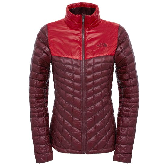 The North Face Thermoball Jacket W - Deep Garnet Red/High Risk Red