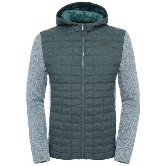 The North Face ThermoBall Gordon Lyons Hoodie - Climbing Ivy Green/TNF Light Grey  Heather