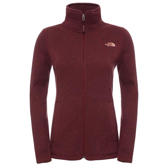 The North Face Crescent Full Zip W - Deep Garnet Red Heather