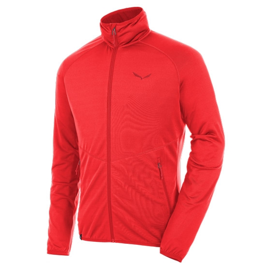 Salewa Puez Grid PL Full Zip - Papavero