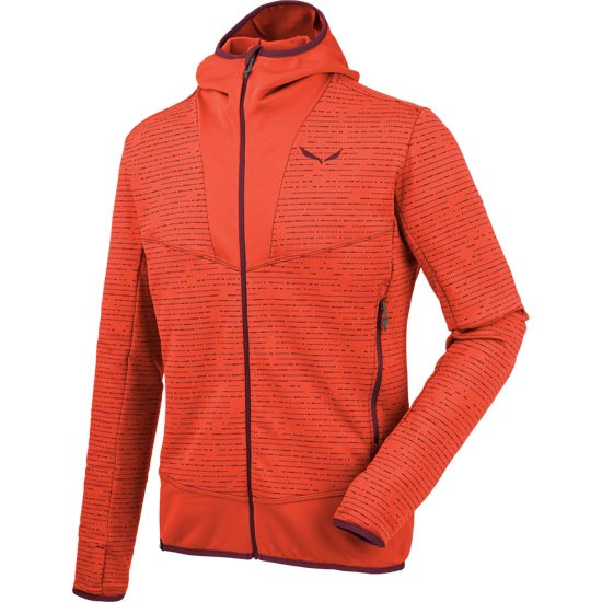 Salewa Puez 2 Full Zip Hoody - Terracota