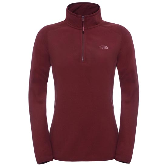 The North Face 100 Glacier 1/4 Zip W - Deep Garnet Red