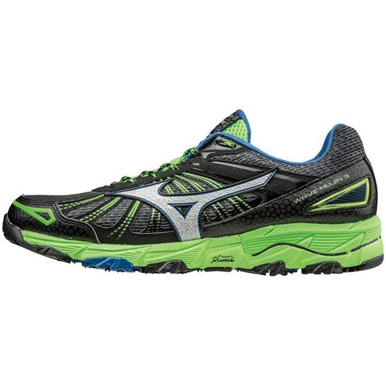 Mizuno Wave Mujin 3 - Dark Shadow/Silver/Green Gecko