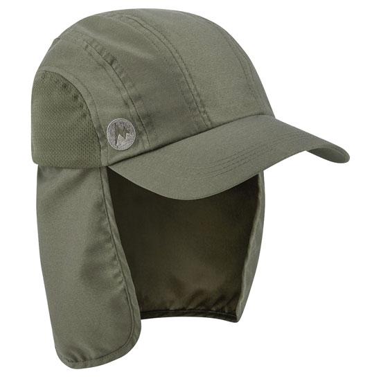 Marmot Simpson Convert Hiking Cap - Deep Olive/Cinder