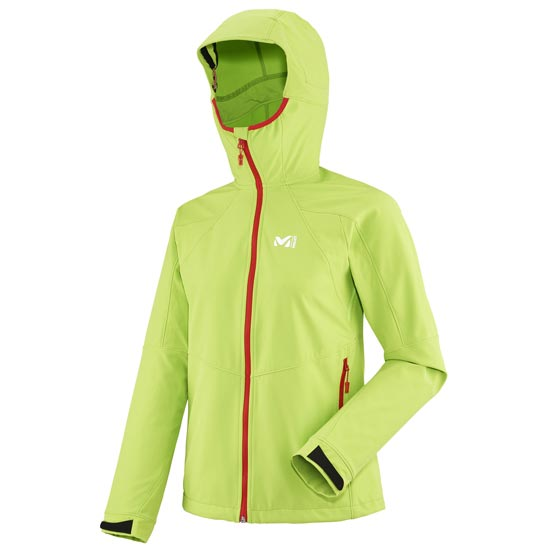 Millet Touring Shield Hoodie W - Acid Green