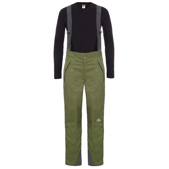The North Face Snowquest Suspender Pant B - Terrarium Green