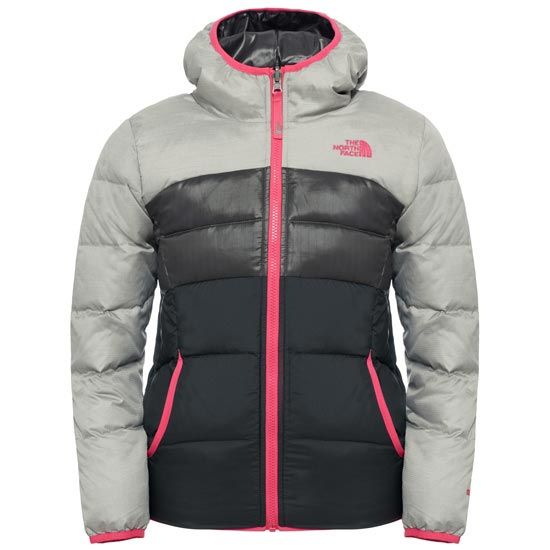 The North Face Reversible Moondoggy Jacket Girl - Metallic Silver Heather