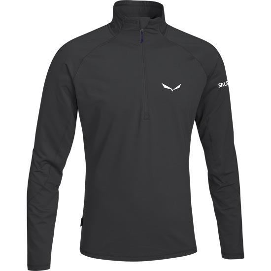 Salewa Ortles Cubic L/S Tee - Black Out