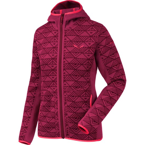 Salewa Puez Printed Hoody W - Red On/Tawny