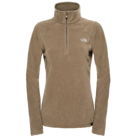 The North Face 100 Glacier 1/4 Zip W - Weimaraner Brown Heather