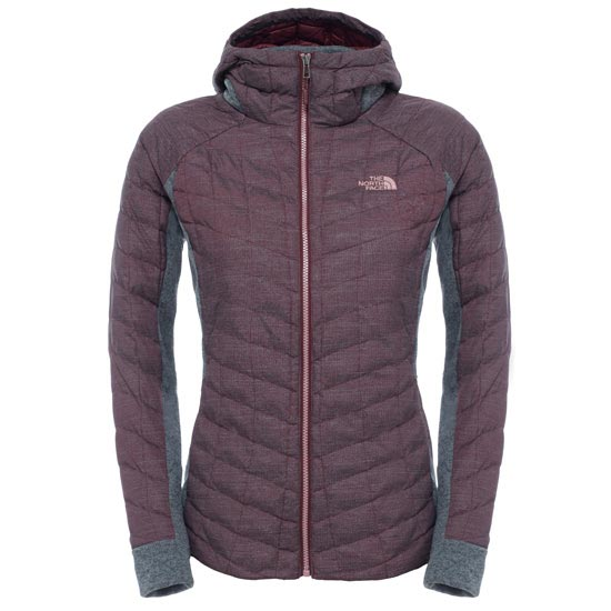 The North Face Thermoball Gordon Lyons Hoodie W - Deep Garnet Red/TNF Medium Grey Heather