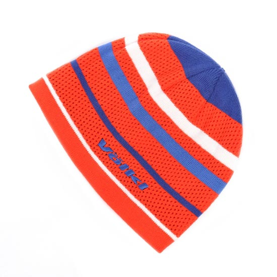 Volkl Black Beanie - Red/ Orange