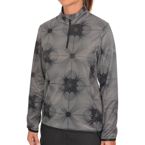 Volkl Silver Zip Shirt W - Black Print