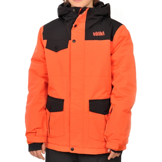 Volkl Boys Logo Jacket Jr - Sunset