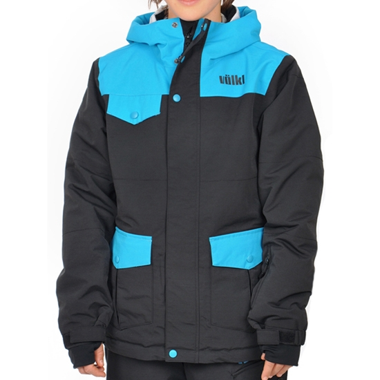 Volkl Boys Logo Jacket Jr - Black Knight