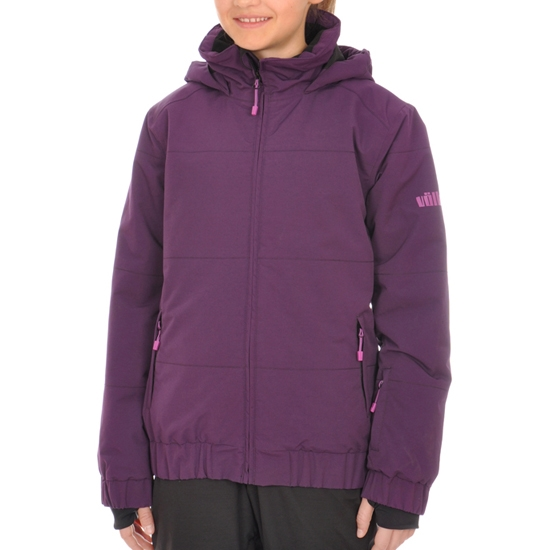 Volkl Girls Logo Jacket Jr - Blackberry