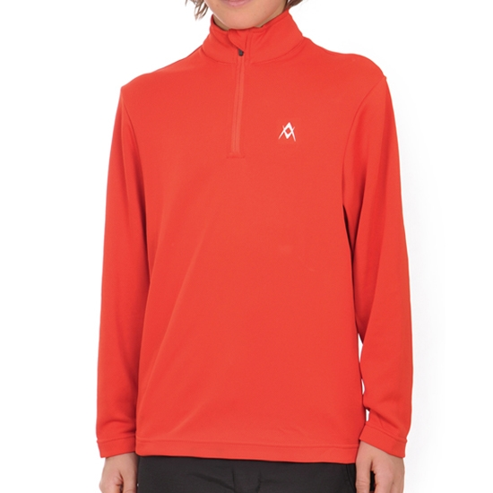 Volkl Ess Zip Shirt Jr - Red Orange
