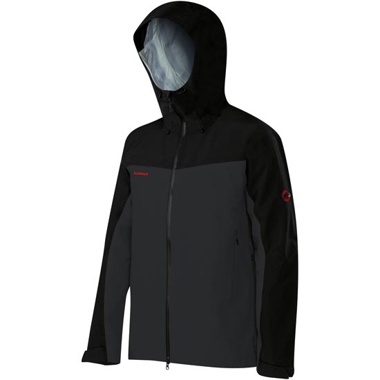 Mammut Crater HS Hooded Jacket - Black/Graphite