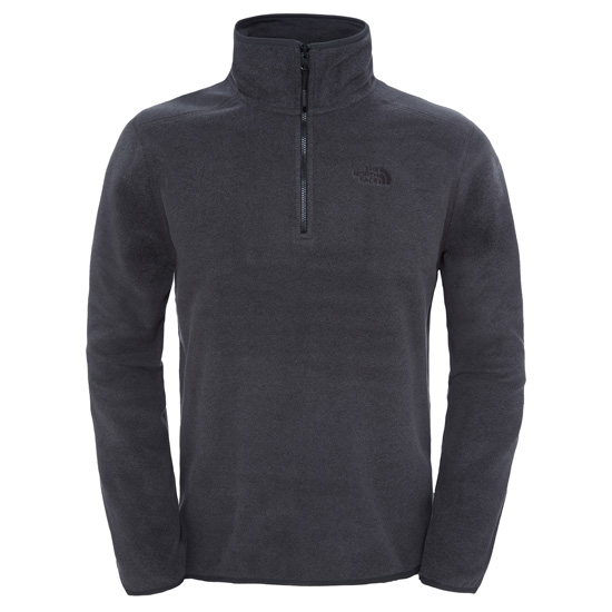 The North Face M 100 Glacier 1/4 Zip - Dark Grey Heather