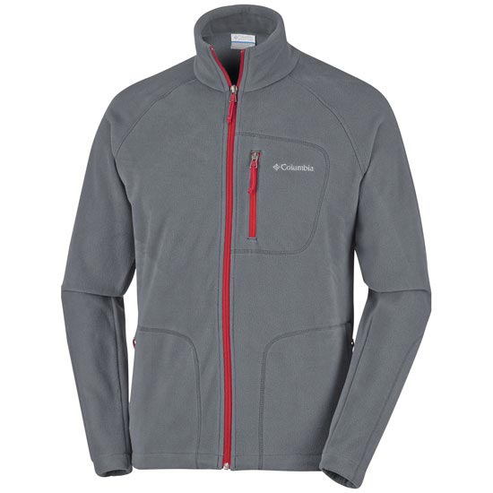Columbia Fast Trek II Full Zip Fleece - Graphite/Mountain Red
