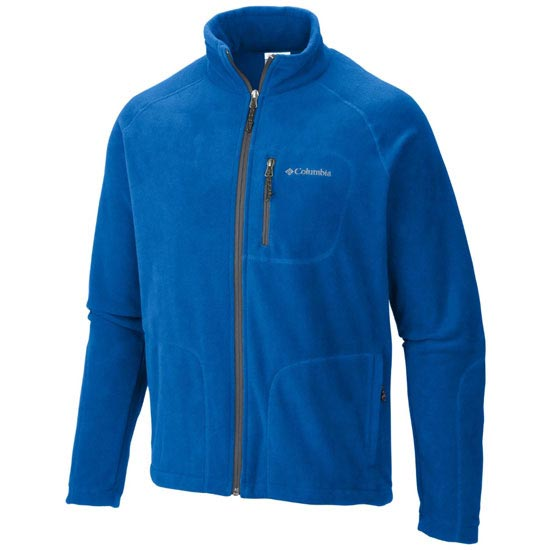 Columbia Fast Trek II Full Zip Fleece - Super Blue/Graphite
