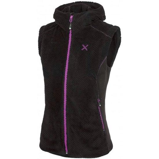 Montura Soft Pile Hoody Vest W - Negro/Fucsia