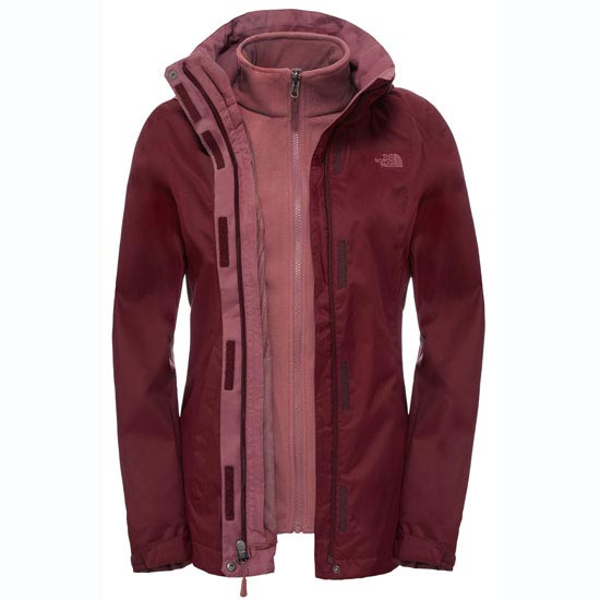 The North Face Evolve II Triclimate Jacket W - Deep Garnet Red